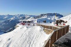 法国人Alpes山在夏慕尼,法国 库存图片