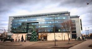 法国兴业银行盛大Est欧洲总公司的建筑细节  免版税库存照片
