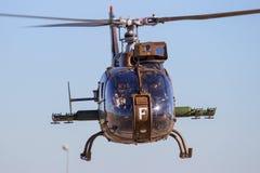 法国军队SA-342瞪羚直升机 免版税库存照片