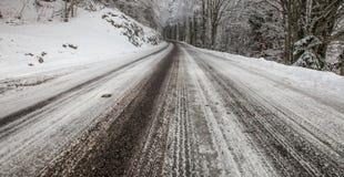 法国农村路在冬天II 库存图片