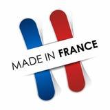 法国制造旗子 免版税库存图片
