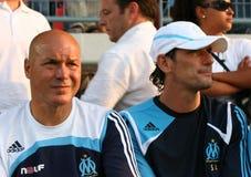法国友好符合om足球tfc与 库存图片