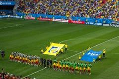 法国和尼日利亚 比赛世界杯足球赛巴西2014年 免版税库存图片