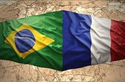 法国和巴西 向量例证