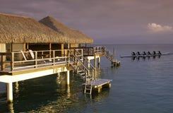 法国和平的波里尼西亚南塔希提岛 免版税库存图片