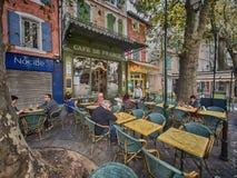法国咖啡馆 库存图片