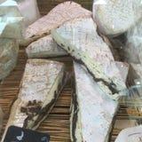 法国咸味干乳酪用块菌 图库摄影