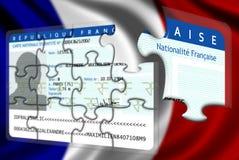 法国国籍获得 免版税库存照片
