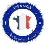法国圆爱国徽章 库存图片