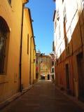 法国圣徒街道tropez 免版税库存图片