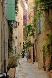 法国圣徒街道tropez 免版税库存照片