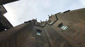法国圣米歇尔修道院。圣米歇尔山修道院出现 影视素材