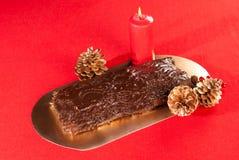 法国圣诞节蛋糕 库存照片