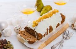 法国圣诞节蛋糕 免版税库存图片
