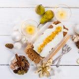 法国圣诞节蛋糕 图库摄影