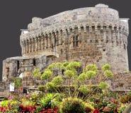 法国城堡在Dinan 库存照片