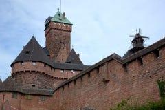 法国城堡欧特Koenigsbourg在阿尔萨斯 库存照片