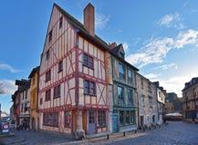 法国城市勒芒的古老部分 免版税库存图片
