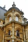 法国大别墅样式议院塔  免版税图库摄影