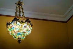 法国天花板灯 库存照片