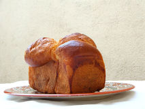 法国奶油蛋卷 库存照片