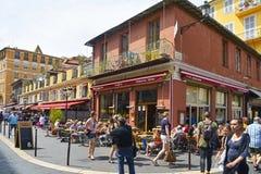 法国好的老城镇 免版税库存照片
