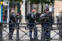 法国宪兵队警察 免版税库存照片