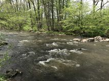 法国小河在宾夕法尼亚 免版税库存图片