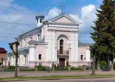 1850年法国小说家巴巴拉berdychiv教会de法国honore结婚的st乌克兰是作家 图库摄影