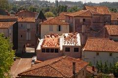 法国屋顶上面-整修 图库摄影