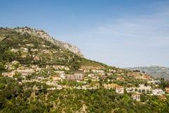 法国山坡的家 免版税库存照片