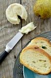 法国山羊乳干酪 免版税库存照片