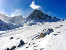 法国山tignes 免版税图库摄影