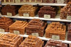 法国市场奶糖 库存照片