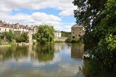 法国平安的村庄 库存图片