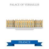 法国平的传染媒介吸引力地标的凡尔赛宫 库存例证