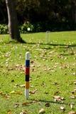 法国庭院草坪槌球钉 免版税库存图片