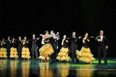 法国康康舞这奥地利的世界舞蹈 免版税图库摄影
