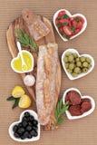 法国开胃小菜宴餐 免版税库存图片
