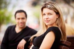 法国愉快的妇女 免版税图库摄影
