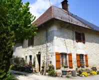法国房子老典型 库存照片