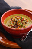 法国扁豆汤 库存照片