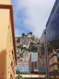 法国摩纳哥蒙地卡罗现代建筑学街道 图库摄影