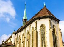 法国教会在伯尔尼 免版税库存图片