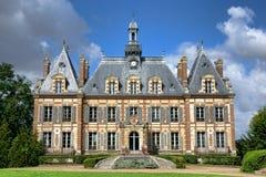 法国新生复兴古董豪宅城堡 免版税库存照片