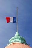 法国旗子半帆柱 图库摄影