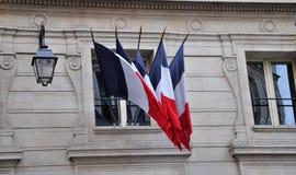 法国旗子在巴黎 库存图片