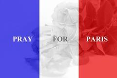 法国旗子有玫瑰色背景 免版税库存图片
