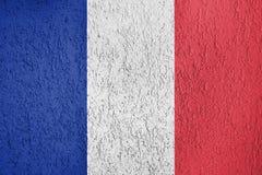 法国旗子纹理  库存例证