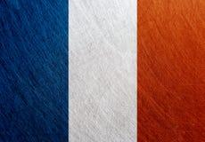 法国旗子,葡萄酒,减速火箭,被抓, 库存图片